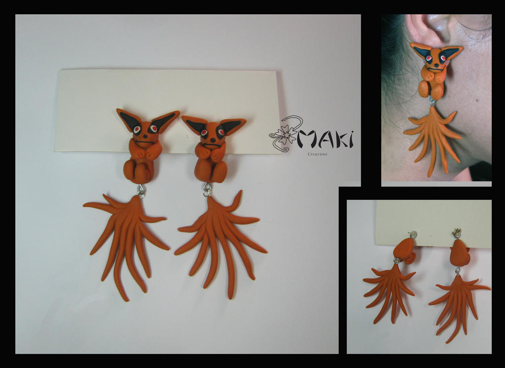 Kurama earring pendant by Makicreazion