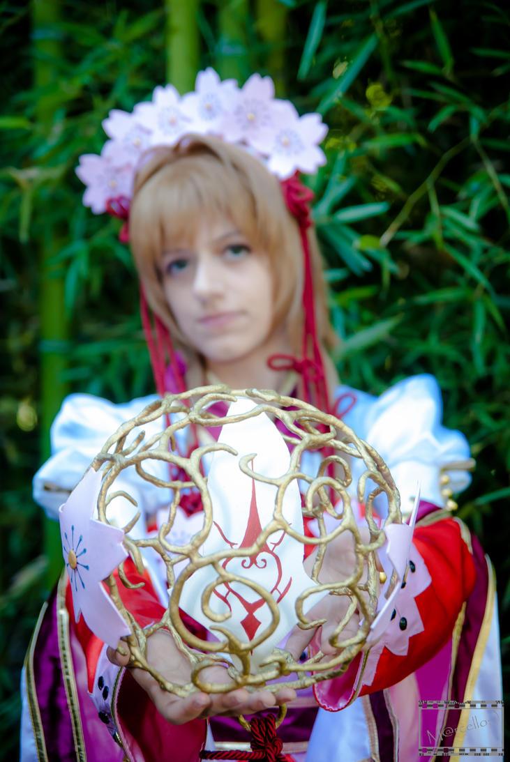 Sakura hime, cherry blossom princess TRC feather by Makicreazion