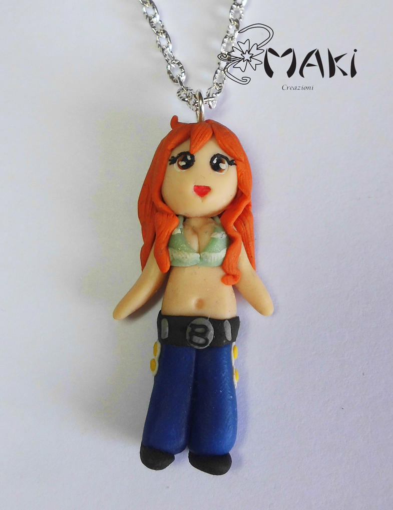 Nami handmade necklace doll by Makicreazion