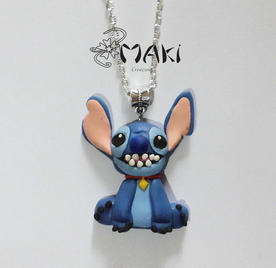 Stitch handmade necklace by makicreazion on deviantart for Lilo and stitch arts and crafts