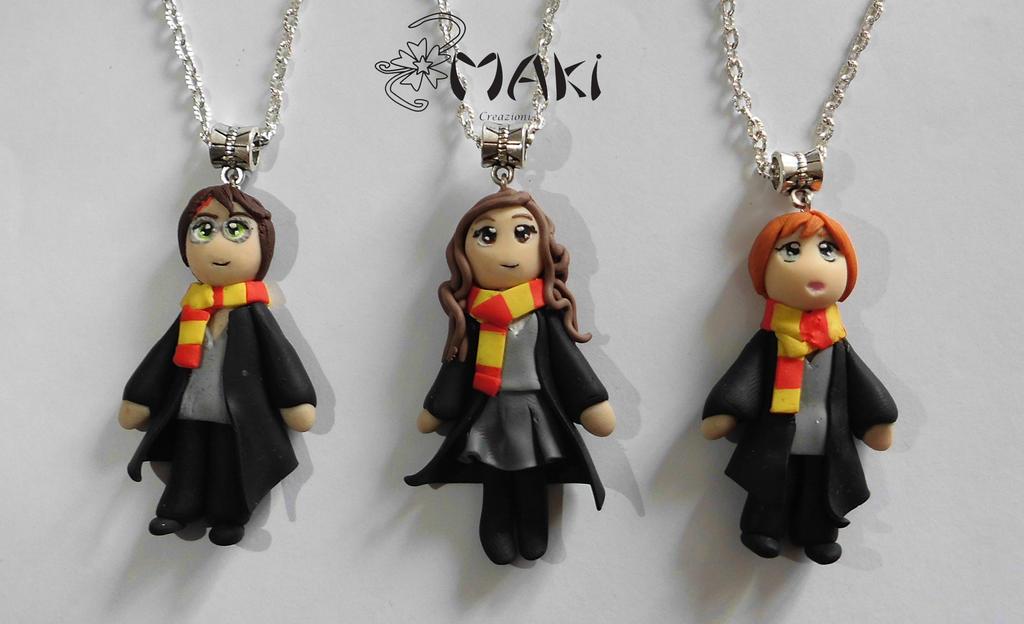 Harry Hermione Ron doll by Makicreazion