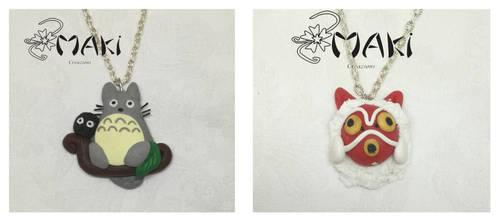 Totoro and Mononoke mask by Makicreazion