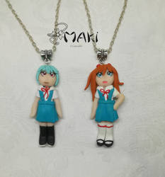 Rei and Asuka chibi by Makicreazion