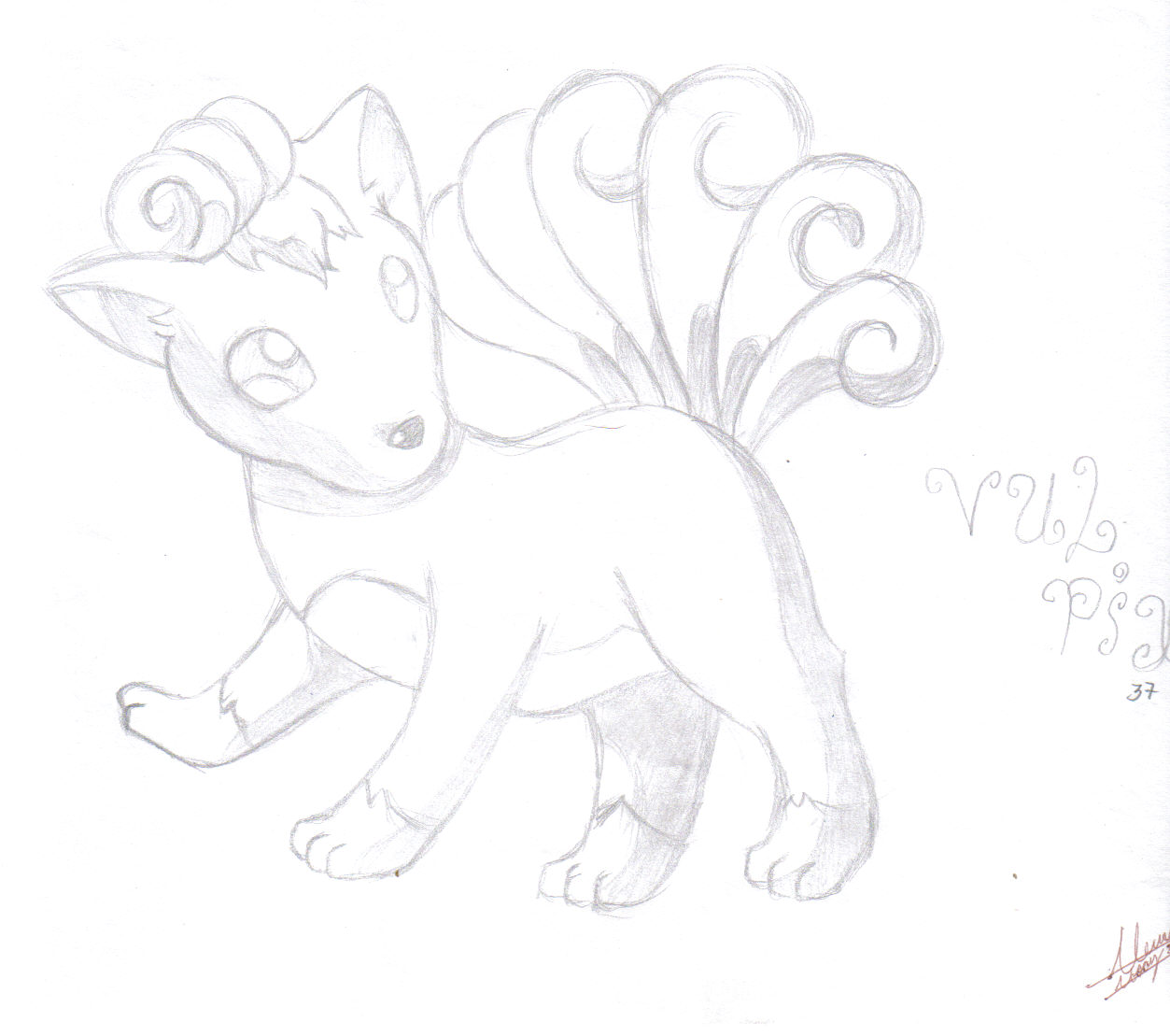 Pokemon Vulpix by Zuhari