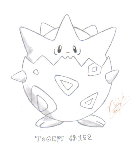 togepi coloring pages - photo#22