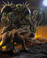 Orc Beastmaster by Flowlow