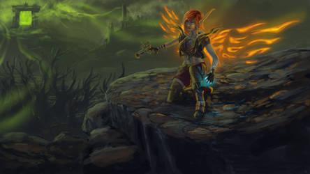 Firehawk in the outlands by Flowlow