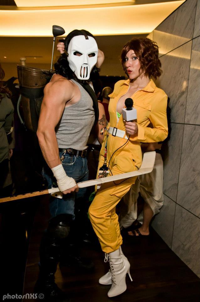 Casey Jones and April O'Neil by megmurrderher
