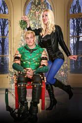 Black Canary and Green Arrow by megmurrderher