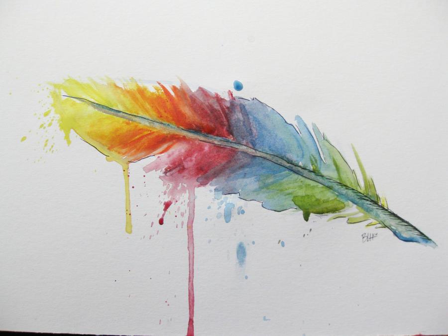 Peacock watercolor pencil