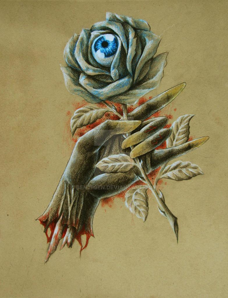 Zombie Rose Hand by BenjiiBen