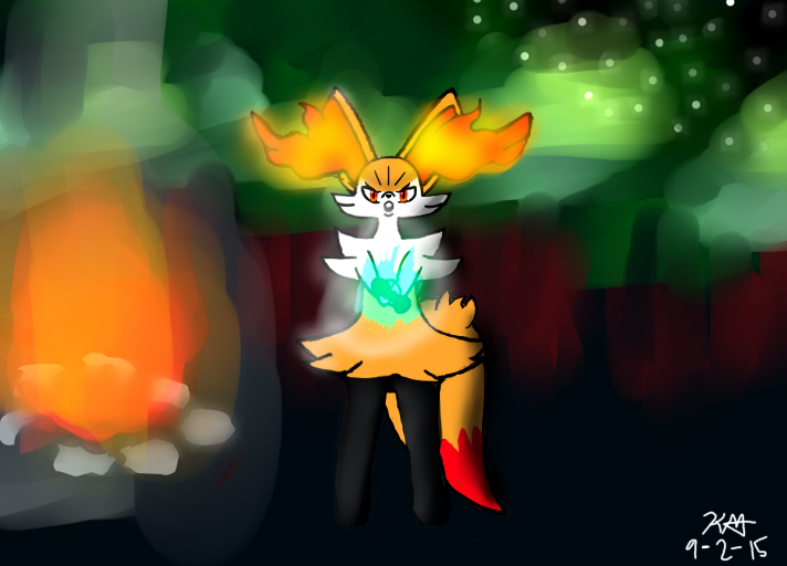 Braixen !!! WATCH WHERE YOUR POINTING THAT!!! HD by Sonic-14