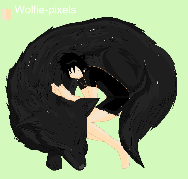Anime Black Wolf And White Wolf | www.imgkid.com - The ...
