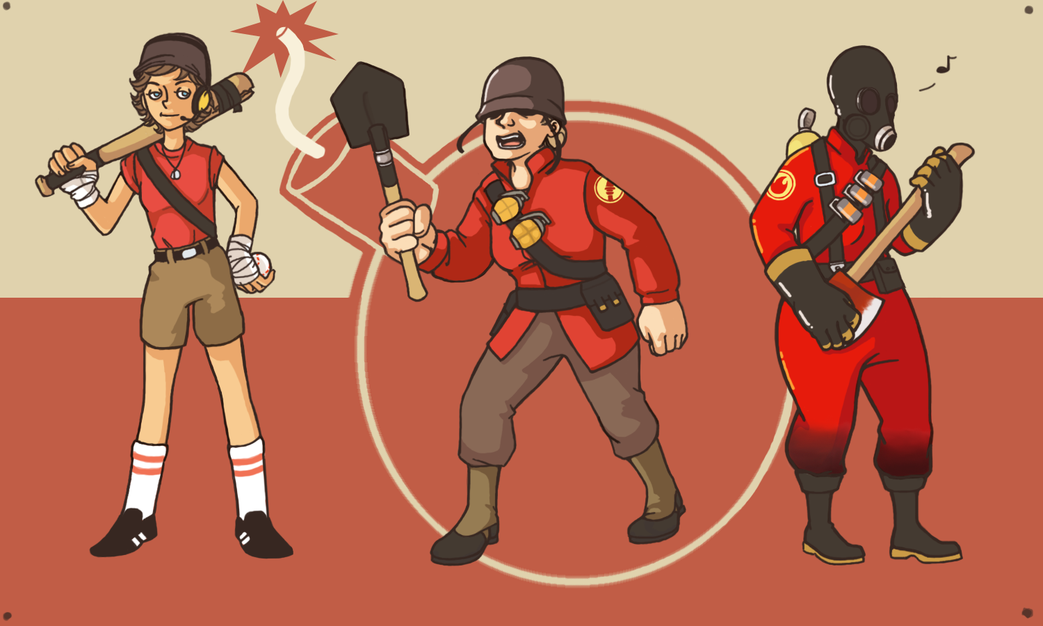 TF2 Genderbends- Offense by MissAutumnFruit