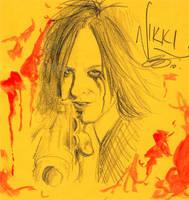 It's a sketch.. of Nikki... by rivertem
