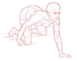 Crouching, Kneeling