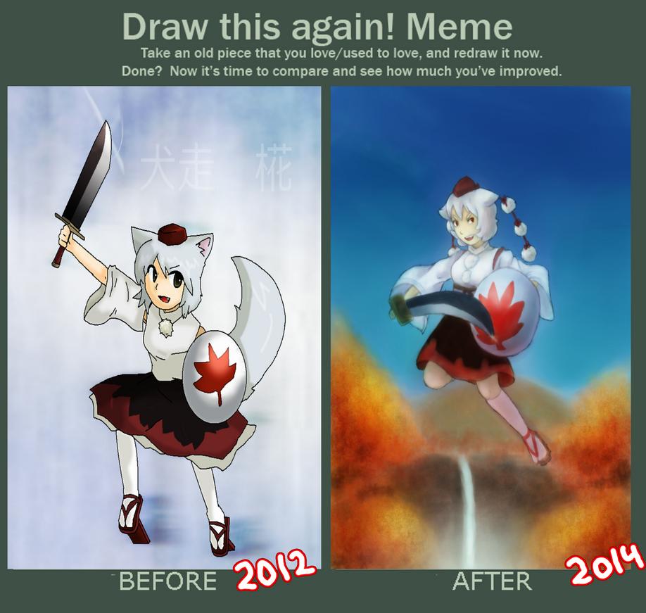 -Draw This again- Momiji Inubashiri by killerplatypus