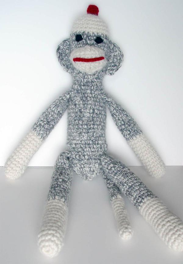 Amigurumi Sock Monkey Crochet Pattern : crochet sock monkey amigurumi by meekssandygirl on DeviantArt