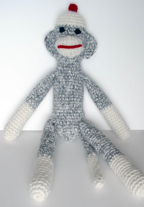 Amigurumi Crochet Sock Monkey : crochet sock monkey amigurumi by meekssandygirl on DeviantArt