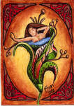 An art nouveau mermaid bathing by meekssandygirl
