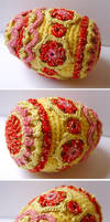 Crochet Faberge style egg