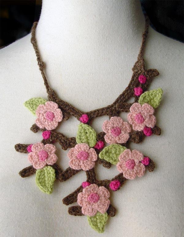 Crochet Cherry Blossoms Sakura by meekssandygirl