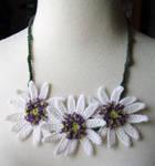 Crochet African Daisy Necklace