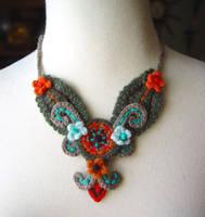 Crochet Tiki Oasis Necklace by meekssandygirl