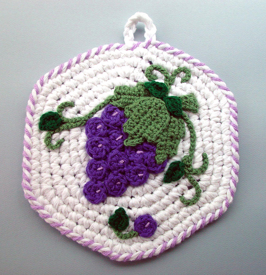Crochet Grapes Pot Holder by meekssandygirl on DeviantArt