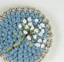 Crochet Queen Anne's Lace Pin by meekssandygirl