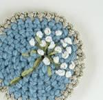 Crochet Queen Anne's Lace Pin
