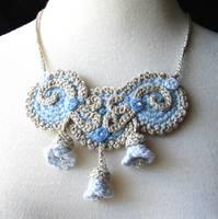 Blue Nouveau Necklace by meekssandygirl