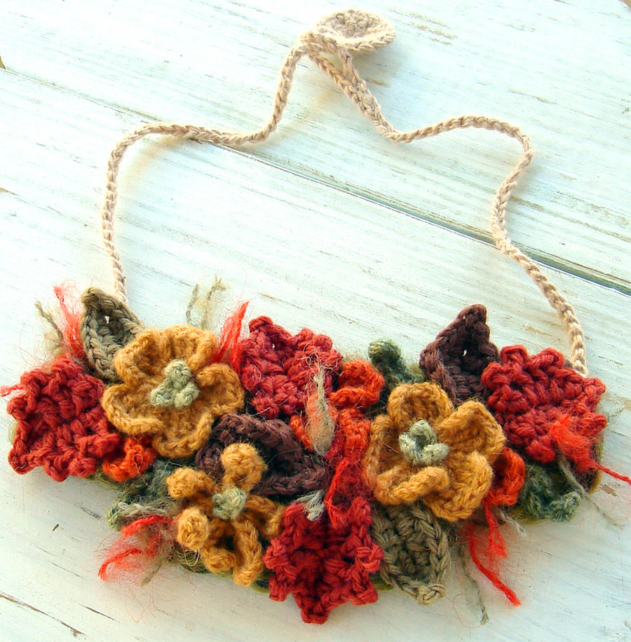 Fall Harvest Bib Necklace by meekssandygirl