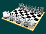 Glass Chess Set - Trimetric