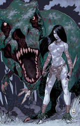 Moon Lake vol2 - Cave Girl and ZRex by Saerus-Coloring