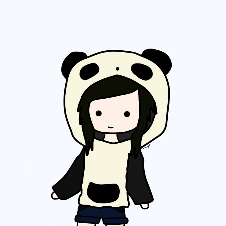 Cute Chibi Panda Girl Jerusalem House
