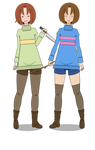 Frisk And Chara ( re-re make + export)