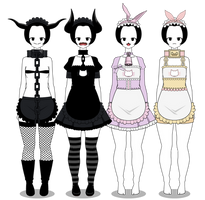 Maids Outfits + Exports by lovelycow152