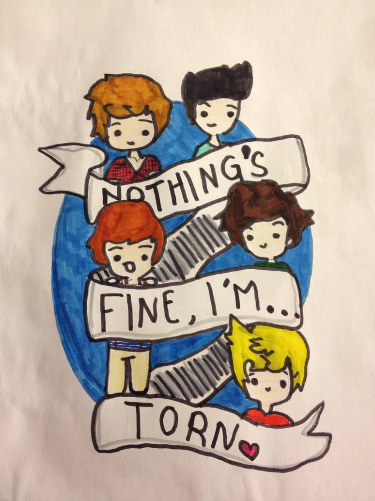 One Direction Torn Doodle by niallersmyfav on DeviantArt