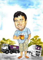 Portrait of trucker