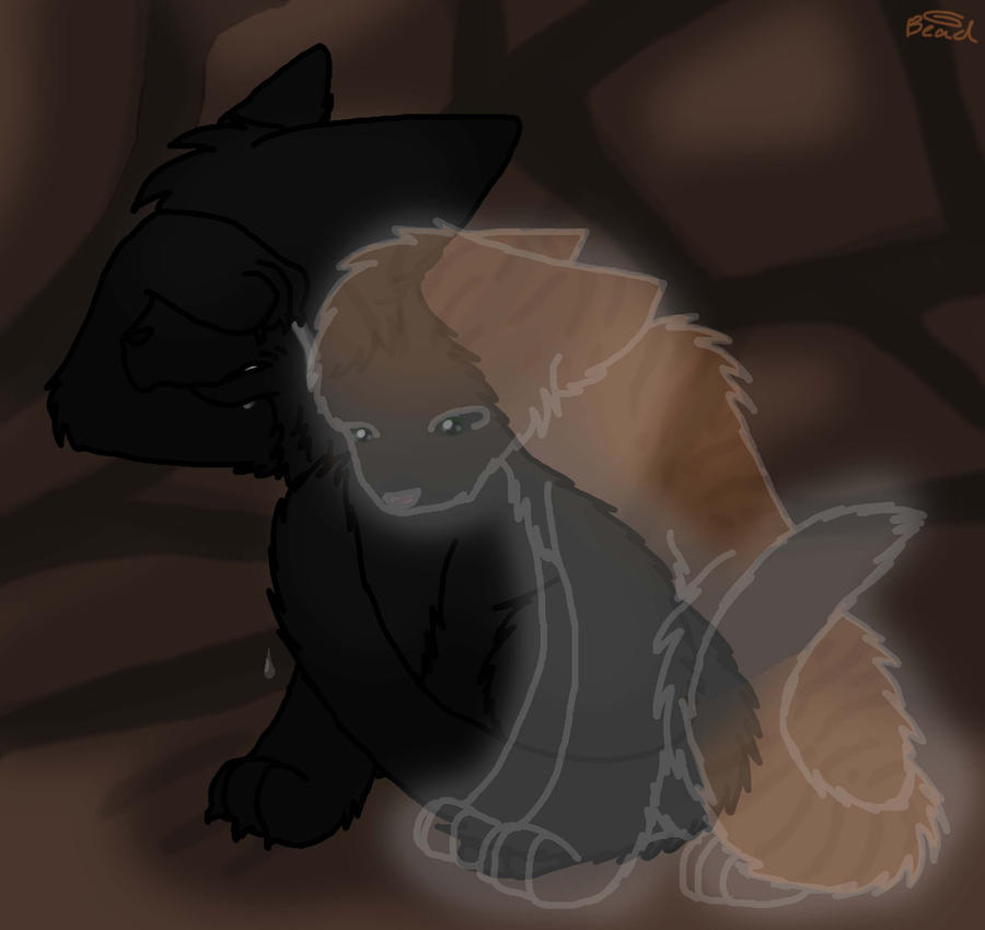 Hollyleaf And Fallen Leaves By BeadFeather