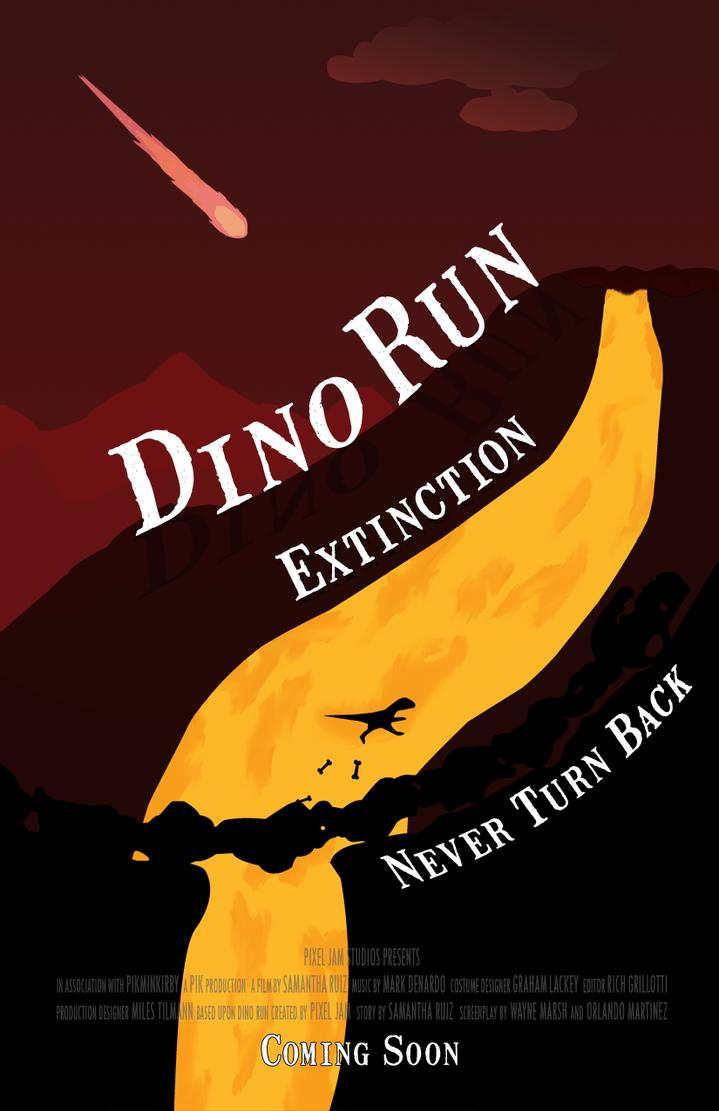 Dino Run Movie with Volcano by PikminKirby