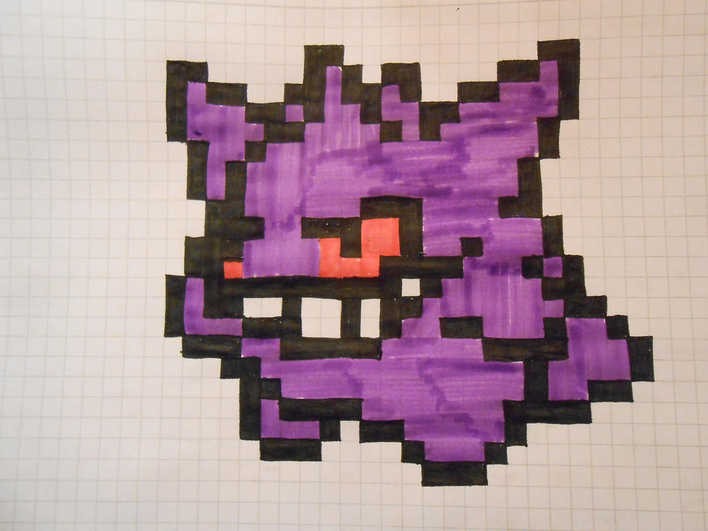 Gengar Pixel-Art by Beffra on DeviantArt