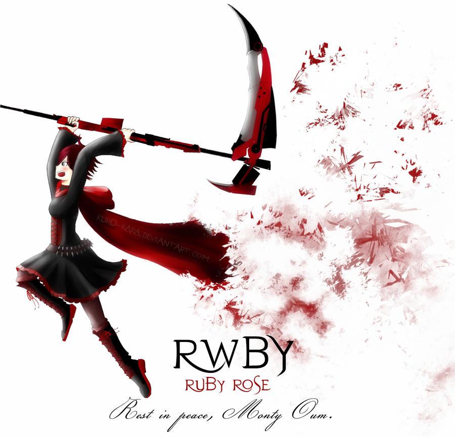 Ruby rose rwby fan art by kuro kara on deviantart - Rwby ruby rose fanart ...