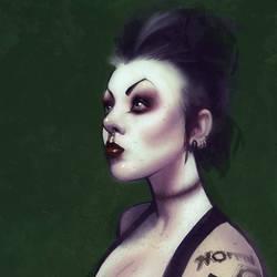Portrait of Rebecca Cliborne by VictraART