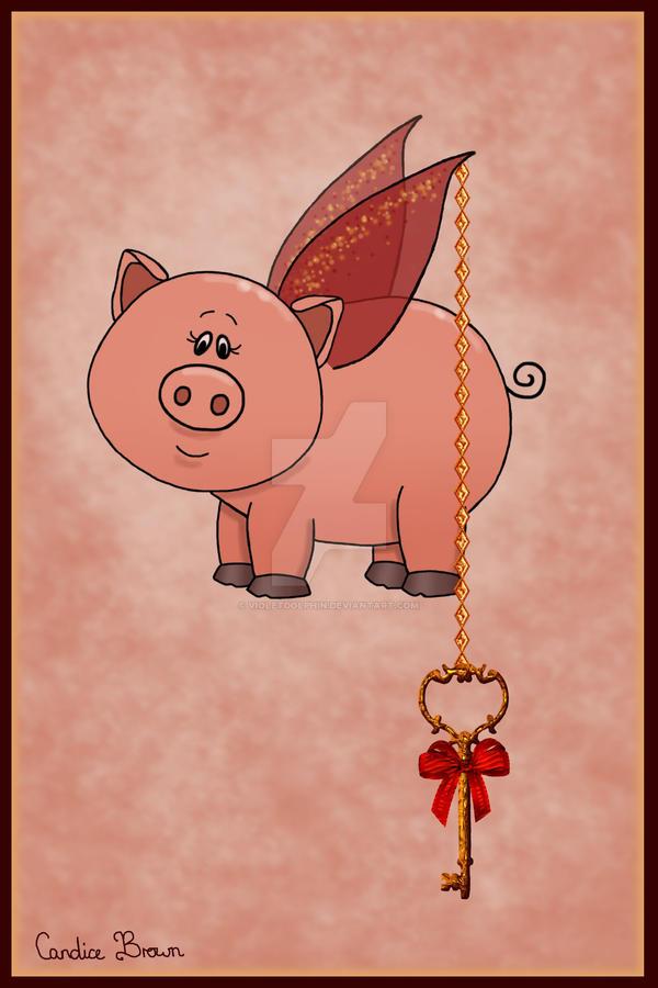 Key Fairy Piggy by VioletDolphin