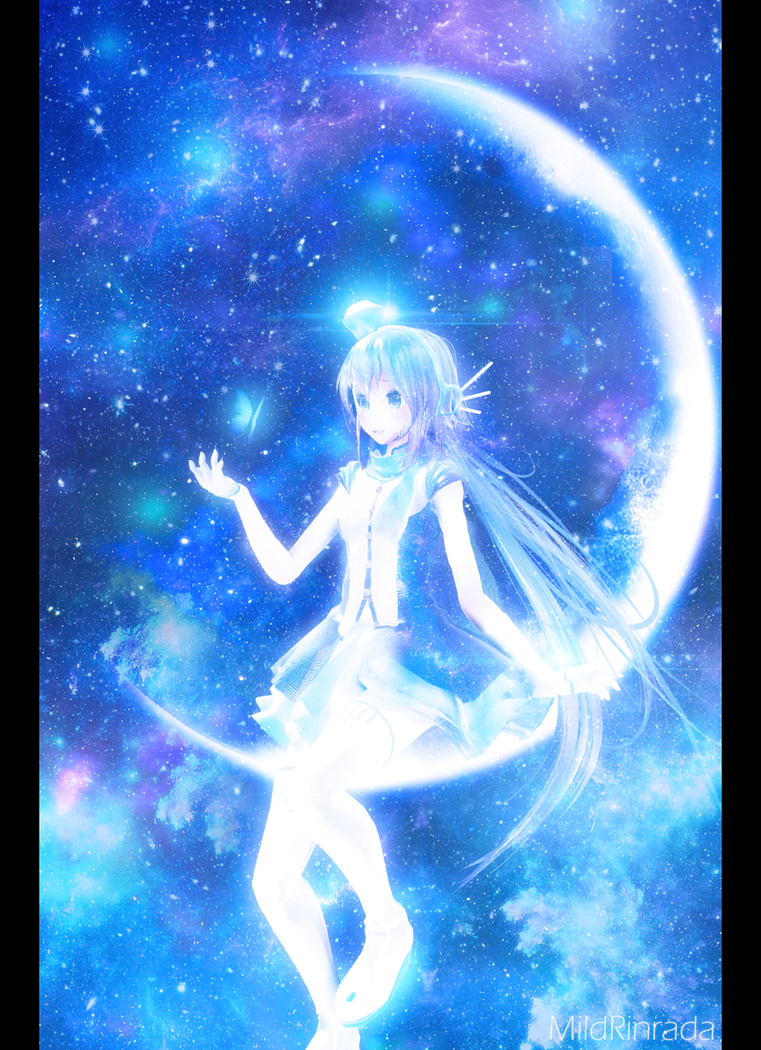 [MMD VOCALOID] Crescent moon - Aoki Lapis by MildRinrada