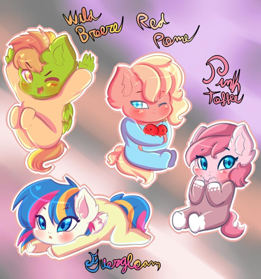 Twishy/Rainbowpie new babies by karsisMF97