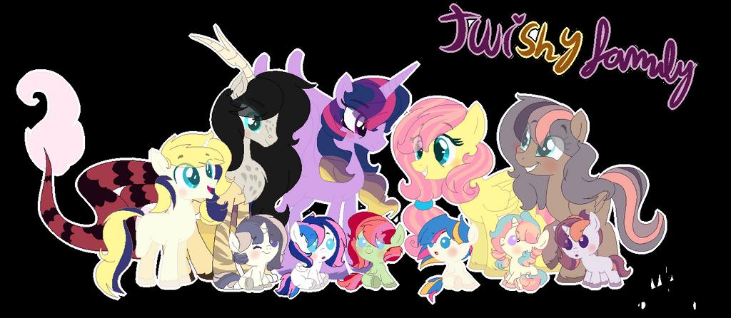 Twilight X Fluttershy Family by karsisMF97