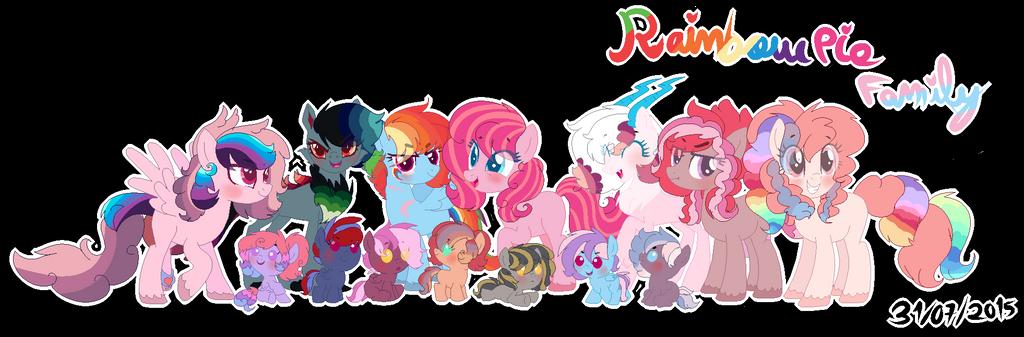Rainbow Dash x Pinkie Pie Family by karsisMF97